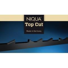 Brzeszczoty z zębem w kształcie korony Niqua TOP CUT, 130 mm 12 szt