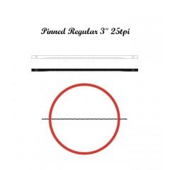 Brzeszczoty włosowe z bolcem NIQUA 70/76 mm, 25 tpi.